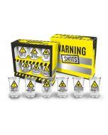 Shot glaasjes warning signs