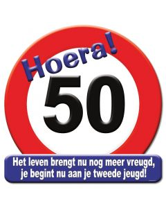 Feestschild Hoera! 50 jaar
