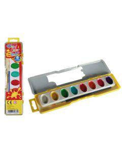 Waterverfdoos 8 kleuren