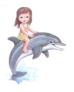 Perstransfer: Meisje speelt met dolfijn - H2