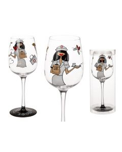 Wijnglas Get well soon