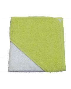 Babycape white/limegreen