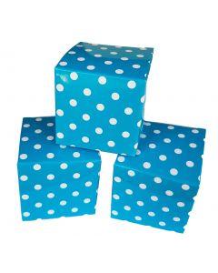 12 doosjes 5 cm blauw