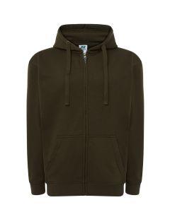 Hooded jacket kahki