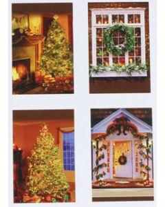Hallmark kerstkaarten met kerstsfeer, doosje van 16 stuks