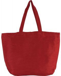 Grote tas van jute/katoen met binnenvoering colours