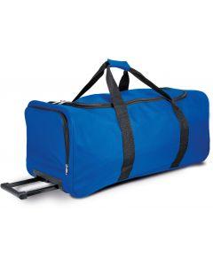 Grote sporttas op wieltjes-royal blue