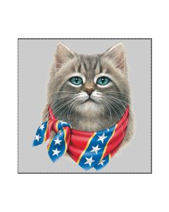 Perstransfer: Bandana cat rebel flag - H1