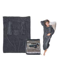 Comfortabele deken met mouwen