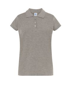 Polo pique lady grey melange