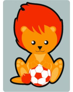 Perstransfer: Leeuwtje met bal voor 10 cm