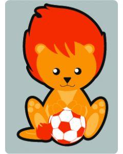 Perstransfer: Leeuwtje met bal voor 15 cm